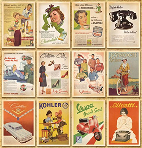 Lot of 32 Postcards Vintage Advertising Album postcard old Greeting Post Cards