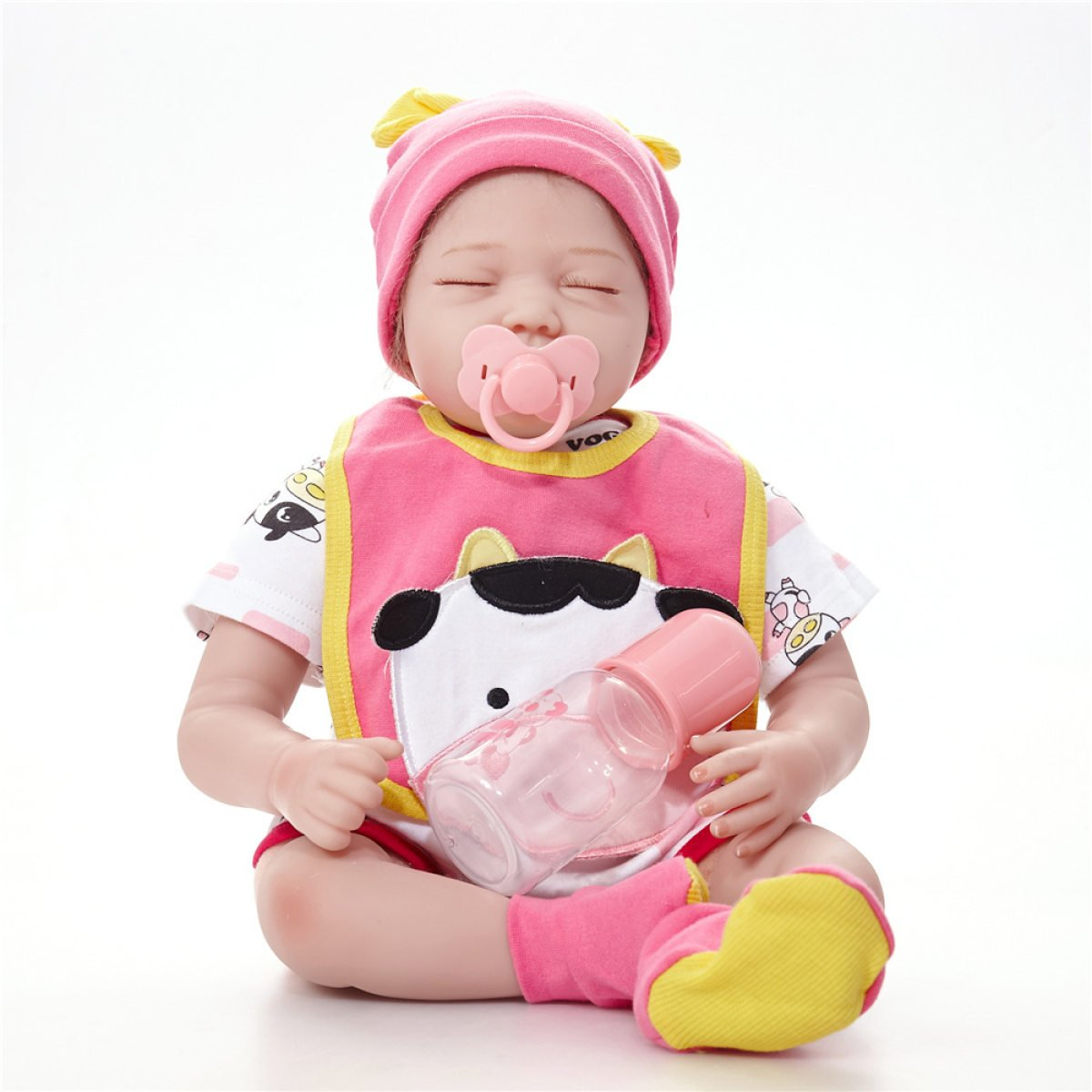 Reborn Baby Dolls Handmade Realistic Silicone Vinyl Lifelike Baby Doll Magnetic Mouth Soft Simulation 22 Inch 55 Cm Eyes Open Girl Favorite Gift Yihang Processing plant