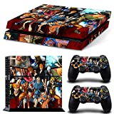 MightyStickers® PS4 Wrap Skin Games Console System p 2 Controller Decal Vinyl Protective Covers Stickers f Sony PlayStation 4 - Mix Anime Naruto One Piece Luffy Bleach Ichigo Gintama Sakata Gintoki