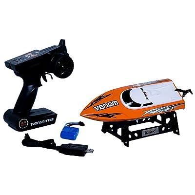 Udirc Venom 2.4GHz High Speed Remote Control Electric Boat (Orange): Toys & Games