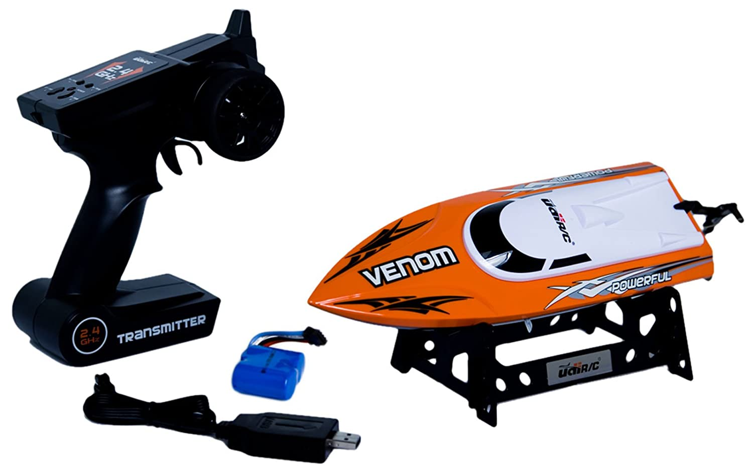Udirc Venom 2.4GHz High Speed Remote Control Electric Boat (Orange)