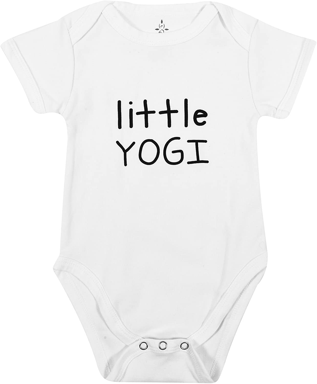 TREELANCE Yoga Baby Organic Cotton Girl Boy Clothes Little Yogi Onesie Onesies for Yoga Babies