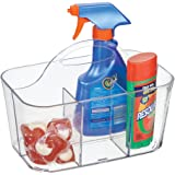 mDesign Laundry, Storage Caddy Tote for Dryer Sheets, Detergent Pods, Stain Remover, Clothes Pins - Clear