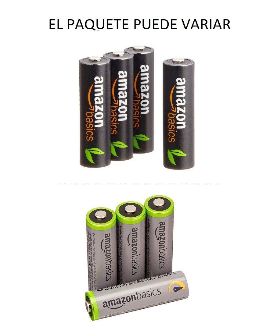 AmazonBasics - Cargador de pilas AA y AAA y 4 pilas ...