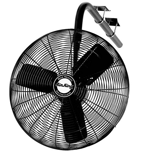 Air King 9424 24-Inch 1/4-Horsepower Industrial Grade I-Beam Mount Fan with 5,130-CFM, Black Finish