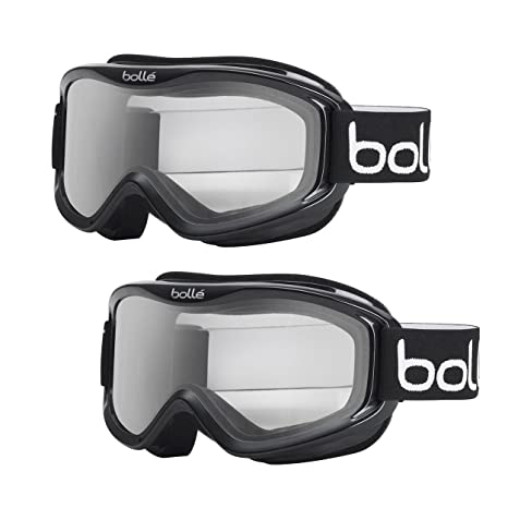 08eaefe46f11 Amazon.com   Bolle Mojo Anti-Fog Snow Ski Goggles (Black Frame ...