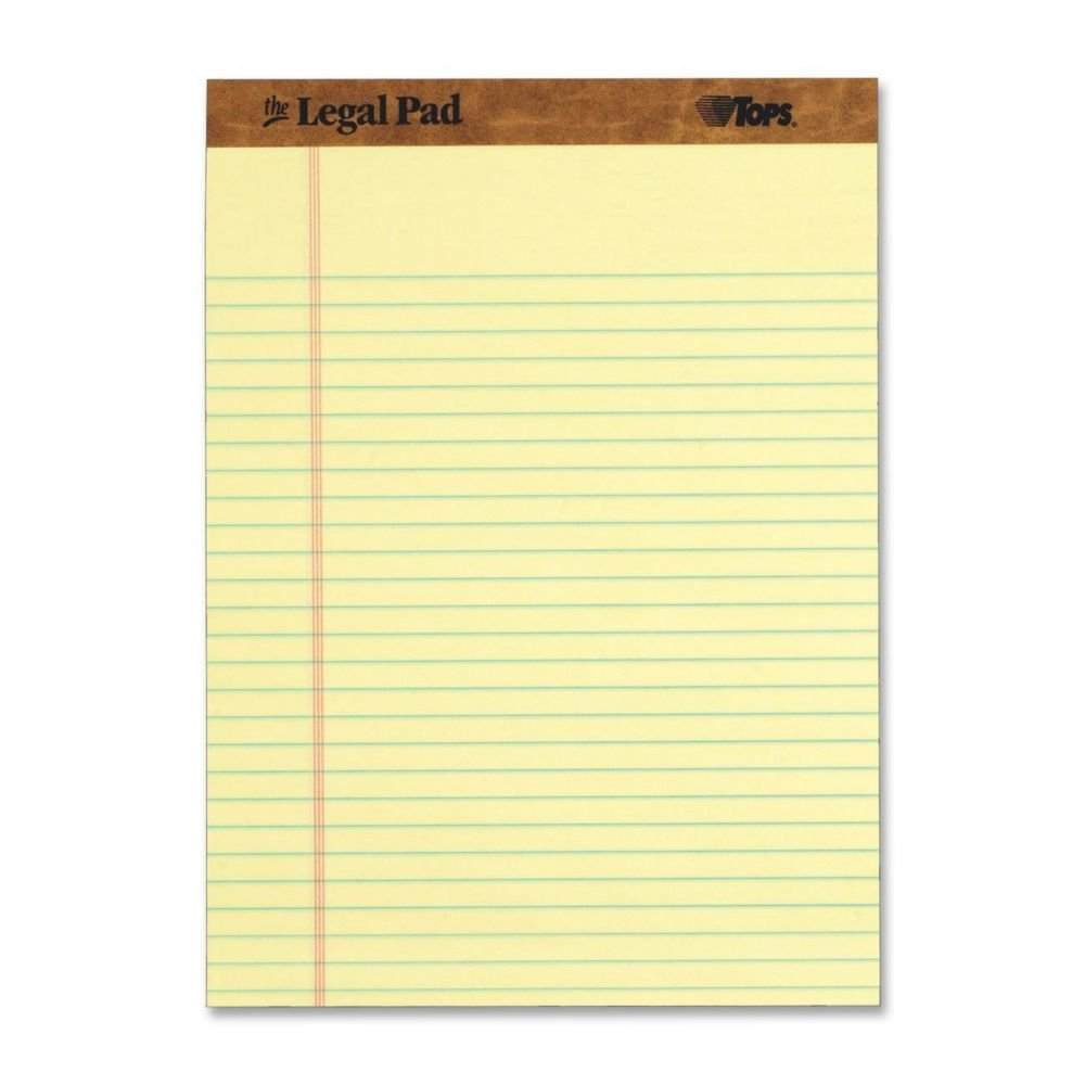 The Legal Pad Letter Size Yellow Note Pads 8.5'' X 11'', 12 Pack