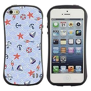 Suave TPU GEL Carcasa Funda Silicona Blando Estuche Caso de protección (para) Apple Iphone 5 / 5S / CECELL Phone case / / Sailboat Blue Pattern Boys Wallpaper /
