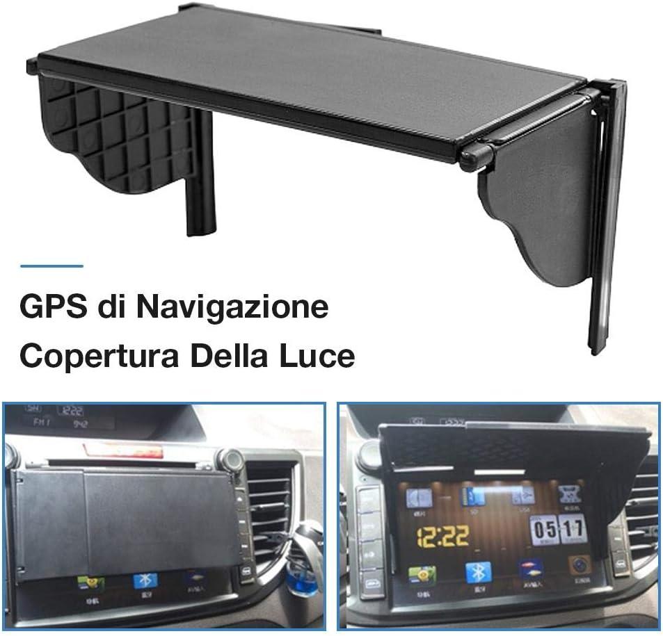 AEROBATICS Navigationsger/ät Sun Visor Sonnenblende,Navi-Sonnenblende Verstellbare Visierverl/ängerung Universal f/ür On-Fahrzeug-Monitor-Sonnenblende