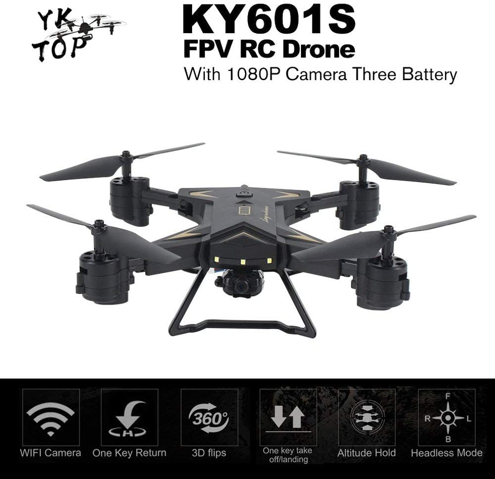 DGdolph Ky601S With Rc Drone 1080P Camera Gravity Sense 20 Mins With Three Batteryblack Black