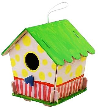 ROBOTIME 3D Rompecabezas De Madera - Casa De Aves con Pintura Herramientas Niño Educativo Woodcraft Rompecabezas de Juguete DIY Kit: Amazon.es: Juguetes y ...