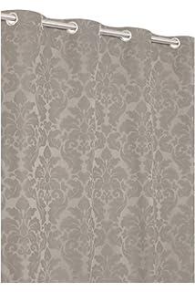Jacquard Vorhang Aus Baumwolle Mit Barock Blumenmuster 135 X 240 Taupe