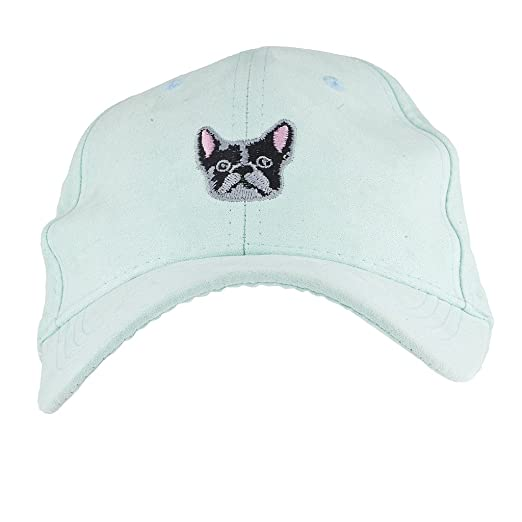 6368b3bcbc3 Amazon.com  Lux Accessories Mint French Bulldog Embroidered Novelty Dad Hat  Baseball Cap  Clothing