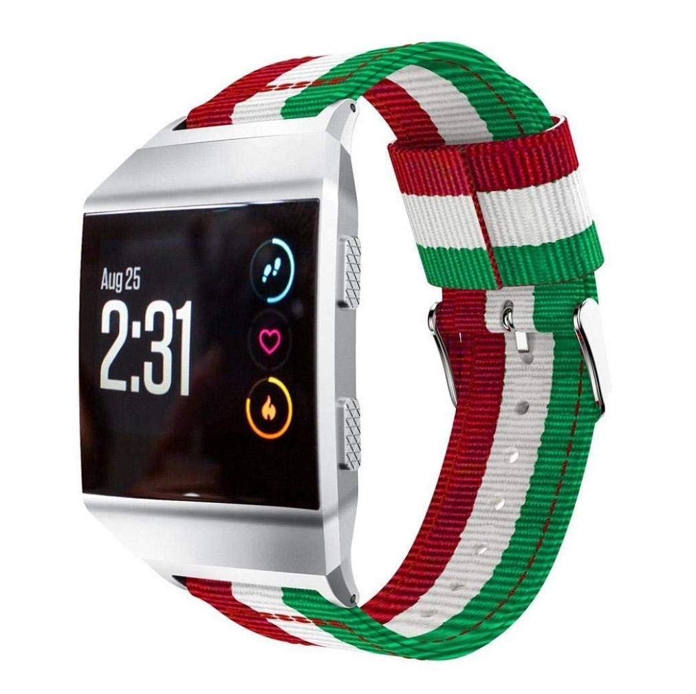 Fashion Clearance! Noopvan Fitbit Ionic Strap,Lightweight Nylon Adjustable Replacement Band Sport Strap for Fitbit Ionic (E)