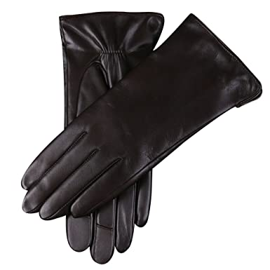 f850916a5e68e WARMEN Women's Touchscreen Texting Genuine Nappa Leather Glove Winter Warm  Simple Plain Cashmere & Wool Blend