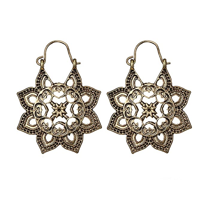 41b7bf6aa6 Amazon.com: Boho Earrings Antique Gypsy Indian Tribal Ethnic Floral ...