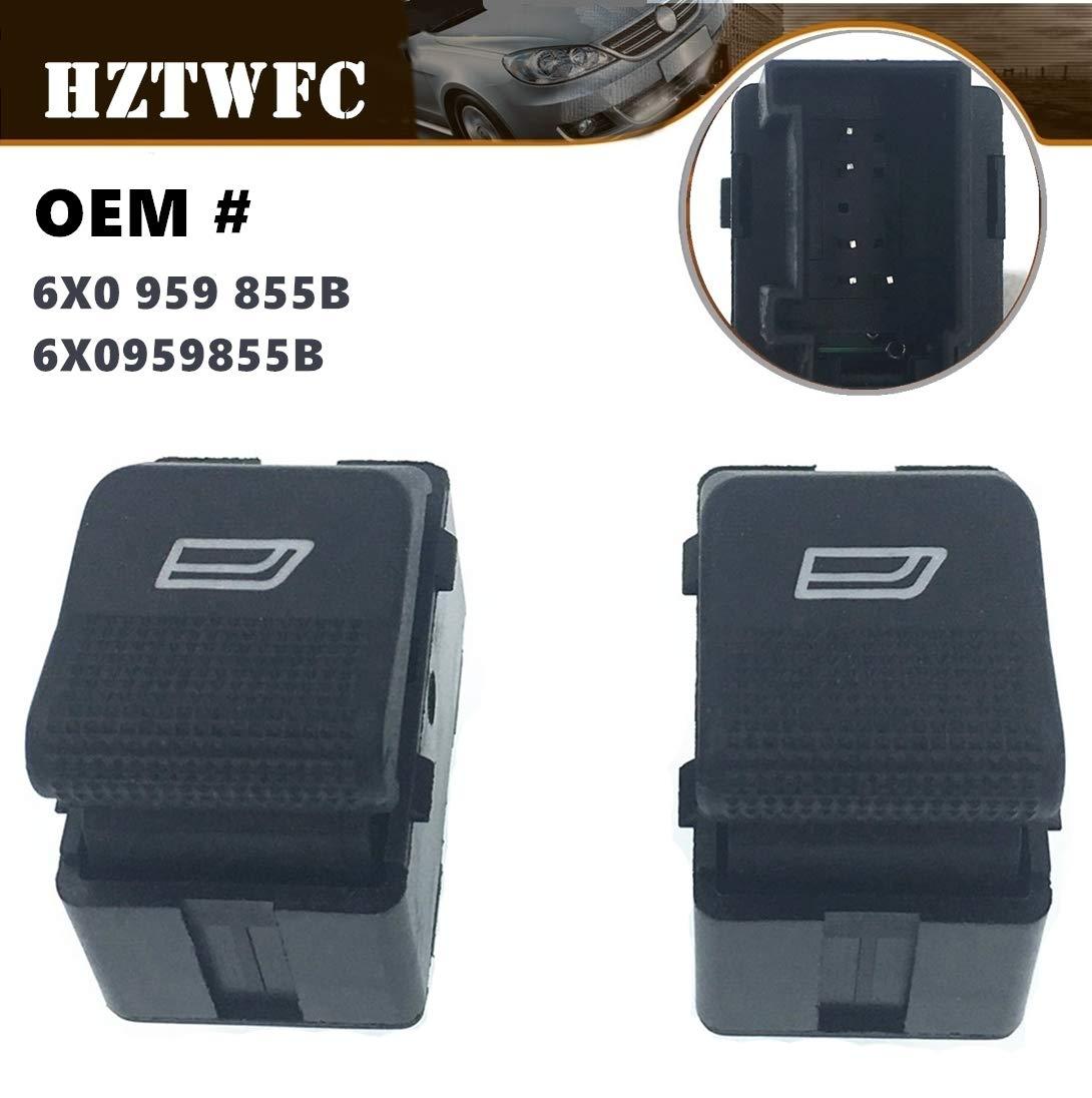 HZTWFC Interruptor de la ventana el/éctrica de 2 piezas solo bot/ón lateral OEM # 6X0 959 855B 6X0959855B