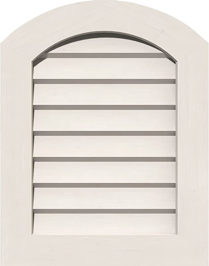 Functional 17W x 19 H Frame Size Ekena Millwork GVPAR12X1401FUN 12W x 14 H Rough Opening : Unfinished PVC Gable Vent with 1 x 4 Flat Trim Frame Arch Top Gable Vent