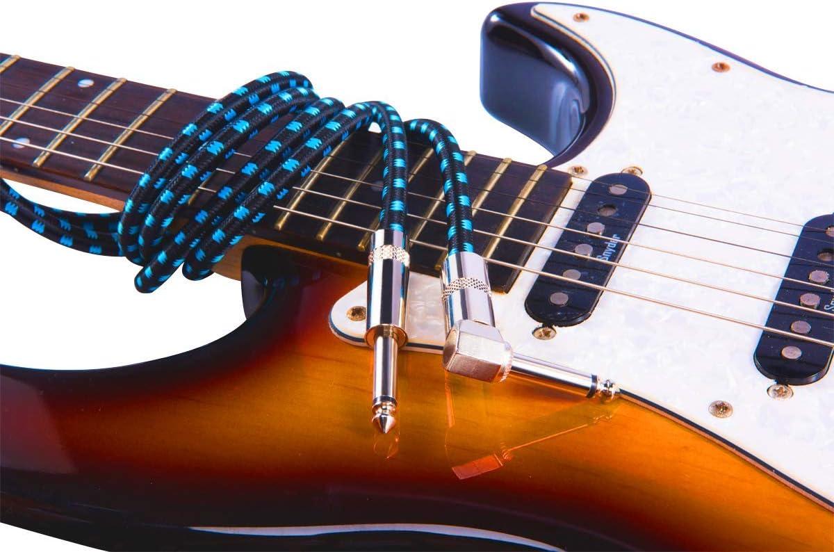 Rayzm Cable de la Guitarra - 3 Metros Silencioso Guitarra / Bajo y ...
