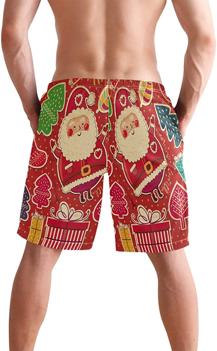 Sawhonn Pois Natalizi Neve Costume da Uomo Bagno Pantaloncini da Surfe Costumi Spiaggia Calzoncini