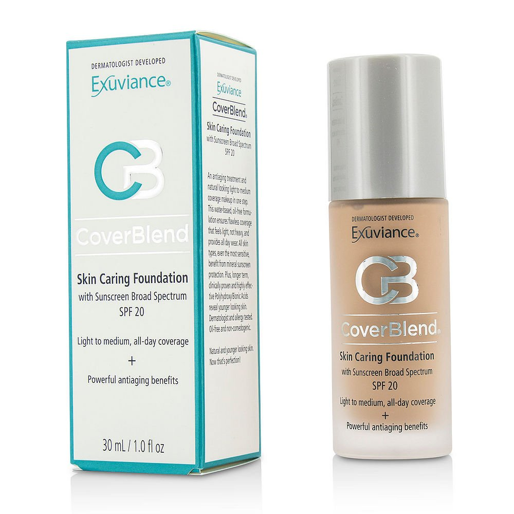 Exuviance by CoverBlend Skin Caring Foundation SPF20 - # Neutral Beige --30ml/1oz for WOMEN ---(Package Of 2)