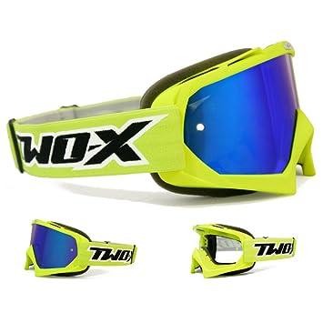ONEAL 2 Series RL Crosshelm SPYDE Blu Neon con TWO-X Race occhiali MX MOTOCROSS