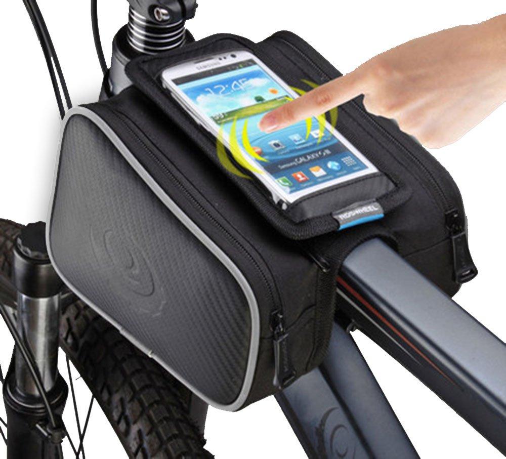 Stonges bicicletta bag equitazione la struttura di fibra di carbonio modello borsa della bicicletta mountain bike bag touch screen del telefono cellulare bag