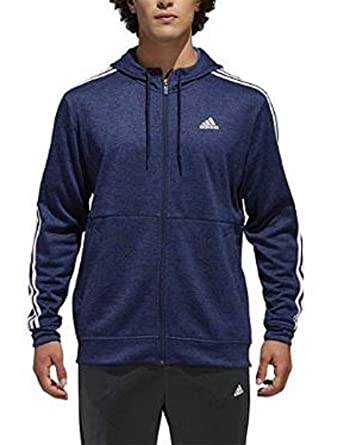 5aae61e4beac adidas Men s Tech Full Zip Fleece Hoodie Performance Hooded Track Jacket