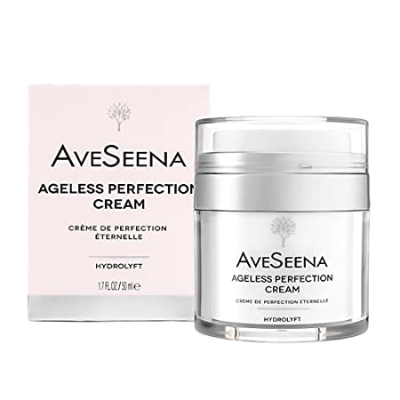 AveSeena Ageless Perfection Cream Natural Facial Cream for Sensitive, Oily or Dry Skin – For Women and Men 1.7 fl oz 50 ml Airless Jar .