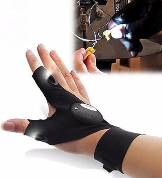 Wandern Not/überlebens Gusspower LED Taschenlampe Angeln Handschuh Elektrische Outdoor Nachtangeln Glove f/ür die Reparatur und Arbeiten in Dunkelheit Orte Camping
