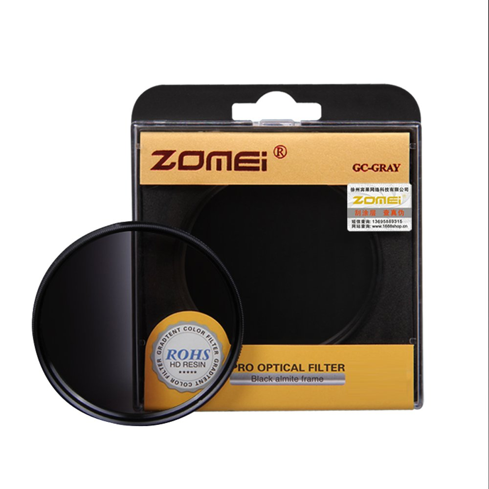 ZOMEI Brand 67mm Optical Resin Graduated Neutral Density Grey Camera Lens Filter