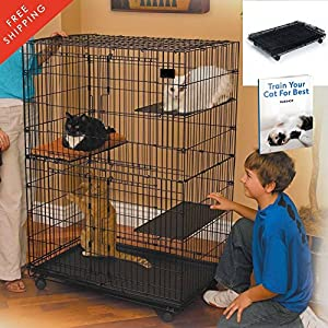 Kitten Enclosure Cat Playpen Deluxe Cat Home Portable Foldable Large Cage  Exercise Happy Habitat For Indoor Outdoor The Best Metal Yard Crates With  Weels ...
