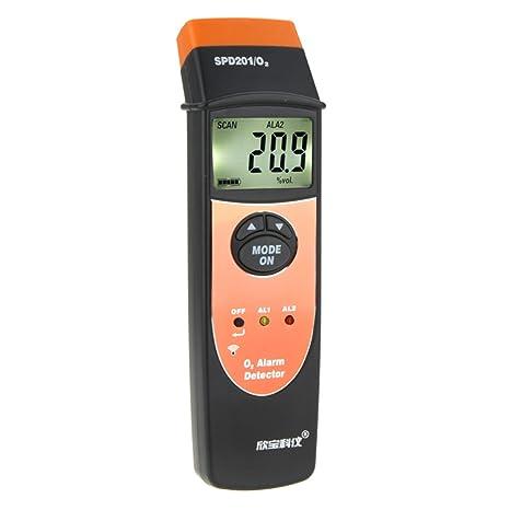 Detector de gas de hueso de perro Dig Oxygen (O2) medidor de alarma 0: Amazon.es: Electrónica