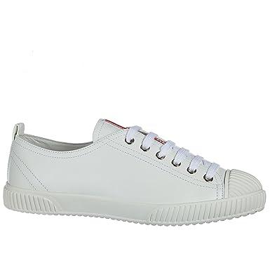 d7291672c37d4a Prada Damenschuhe Turnschuhe Damen Leder Schuhe Sneakers Weiß EU 41  3E58763ON8F0009