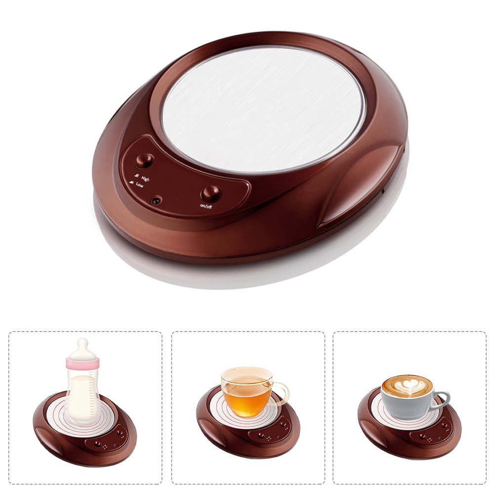 Coffee Mug Warmer For Desk,Constant Temperature,with Non-slip Foot Beverage (ea,Water,Cocoa,Soup or Milk) Warmer Pad