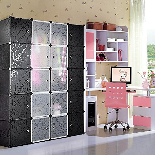Nex Cube Wardrobe, Armoire, Storage Cube With Doors Multi Use Cabinet Cube Shoe Rack Bookcase Homeuse(EAT0121)