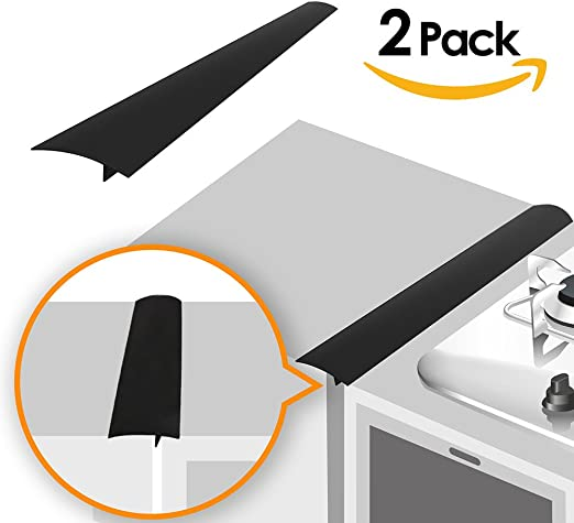 Silicone Stove Counter Gap Cover For Cooker Worktop Spill Guard Seals Filler Set