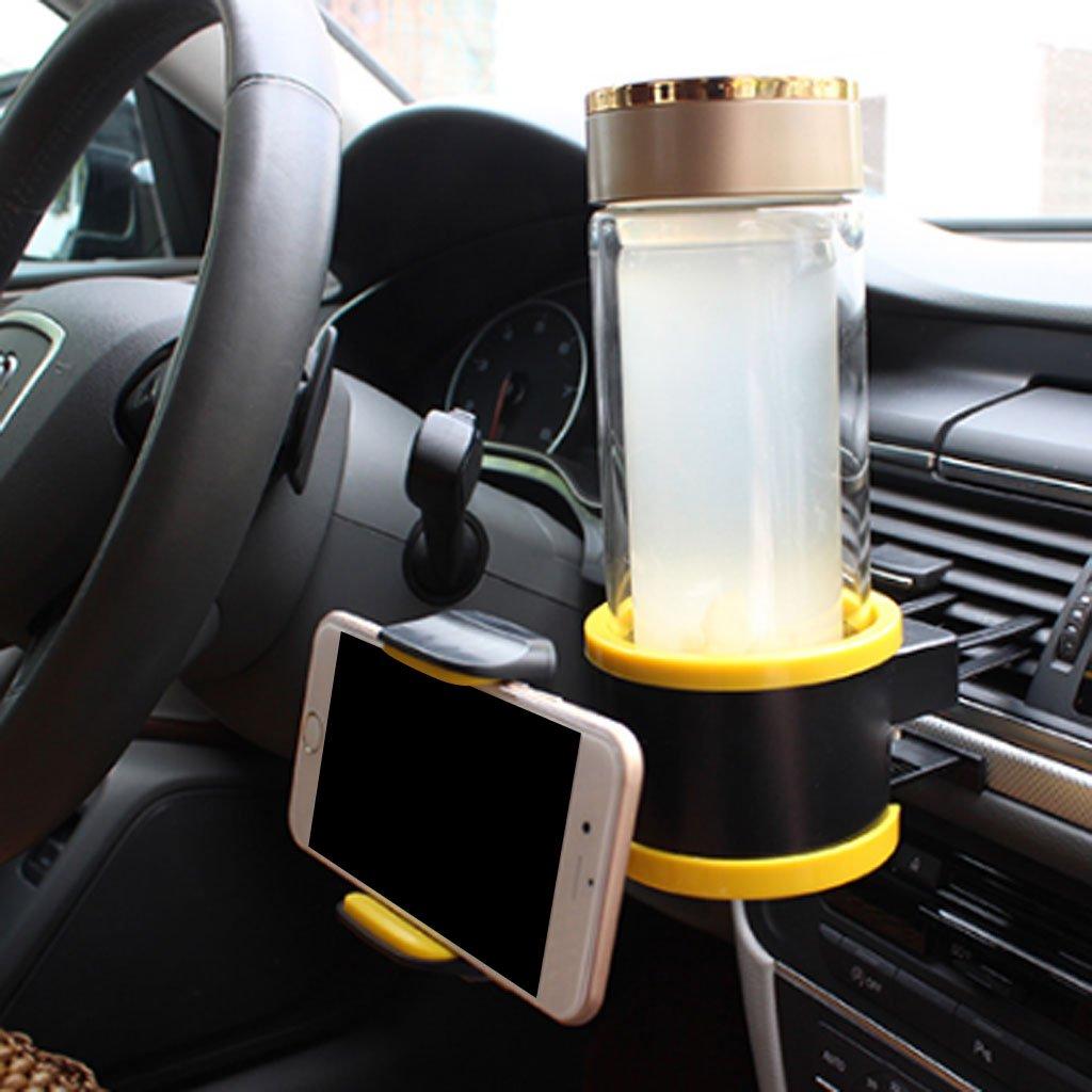 Universal Auto Getr/änkehalter mit Handyhalter Telefonhalterung Hochwertig und G/ünstig Grau