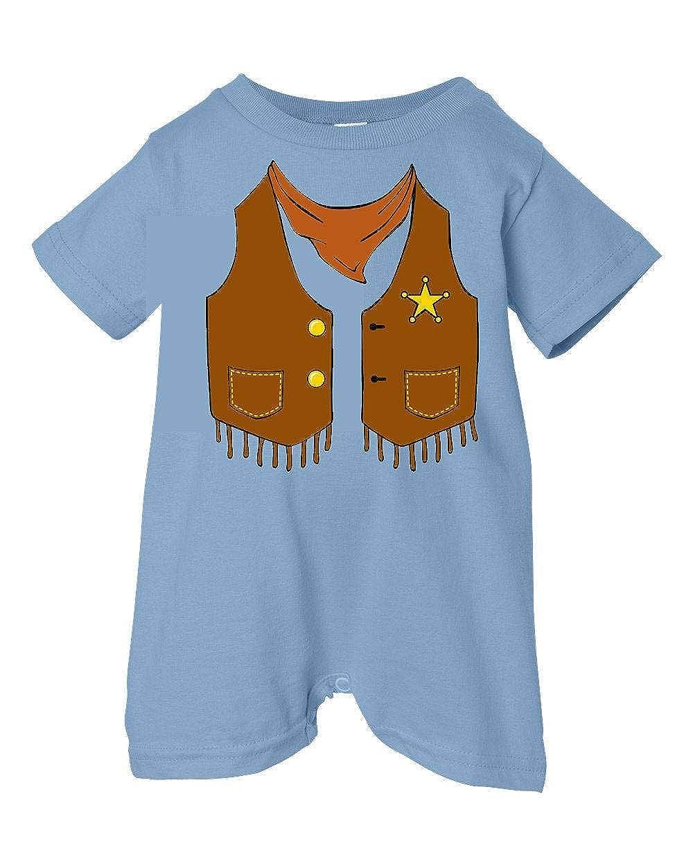 Lt. Blue, 12 Months Festive Threads Unisex Baby Sheriffs Vest T-Shirt Romper