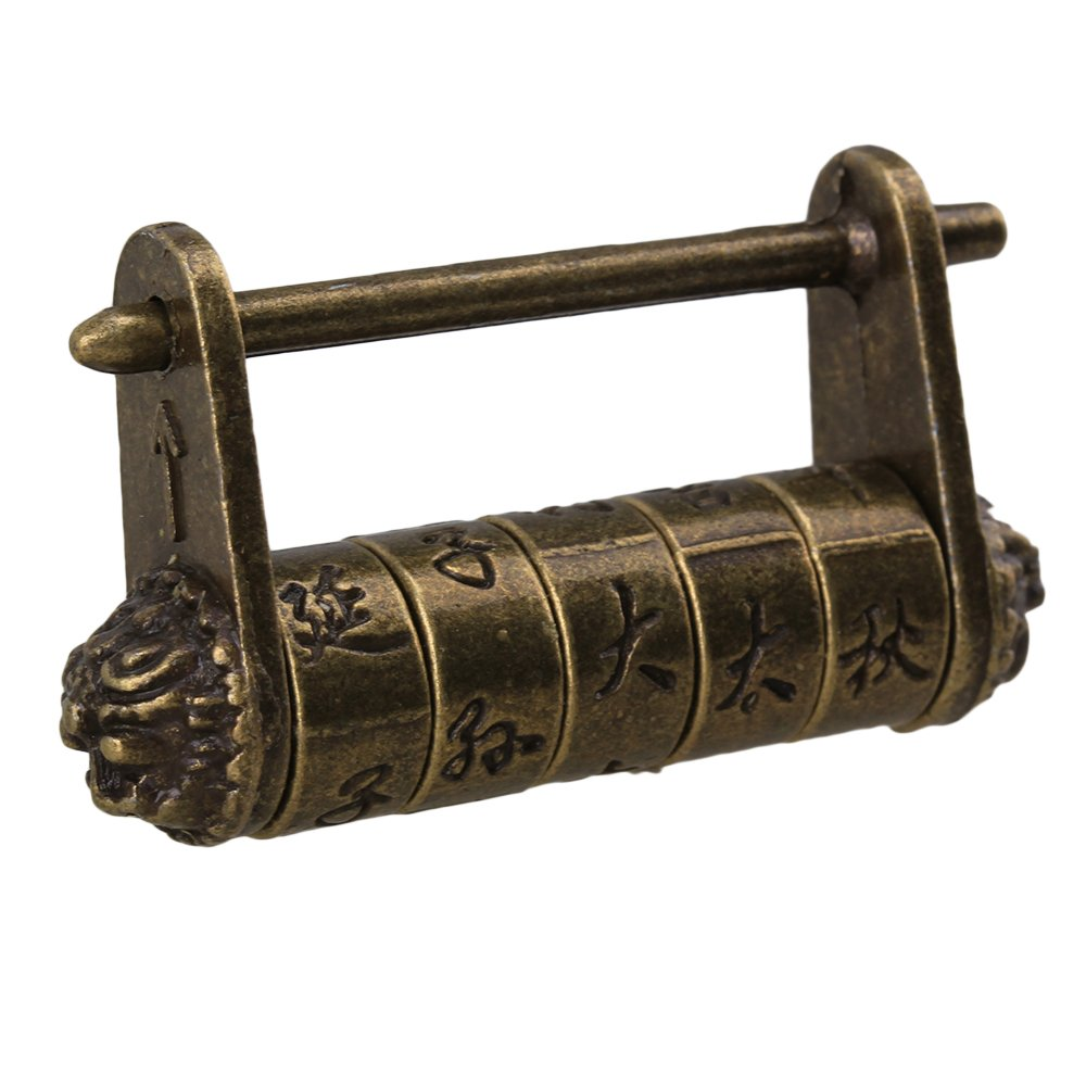 BQLZR Metal Chinese Old Style Vintage Antique Password Lock Padlock for Suitcase and Box - - Amazon.com