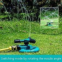 YD-outdoor (Traje) Aspersor de césped y jardín, Conector de Agua de 4 Puntos Rotación automática 360 °, 3 Brazos con aspersor de Impacto, 205X180x90mm,E(50mtube): Amazon.es: Deportes y aire libre