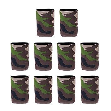 Tarnung Muster 10PCS Phenovo Flaschenk/ühler // Dosenk/ühler aus Neopren f/ür Flaschen