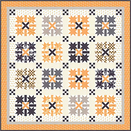 Fig Tree and Co All Hallow's Eve Midnight Crossing Quilt Kit Moda Fabrics ()