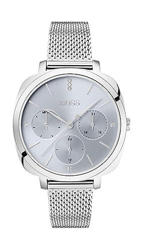 Hugo Boss Reloj Multiesfera para Mujer de Cuarzo con Correa en Acero Inoxidable 1502491: Amazon.es: Relojes
