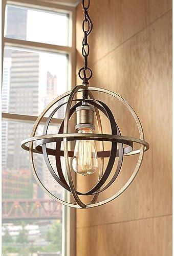 Home Decorators Collection 27030 1-Light Bronze Champagne Pewter Mini Pendant