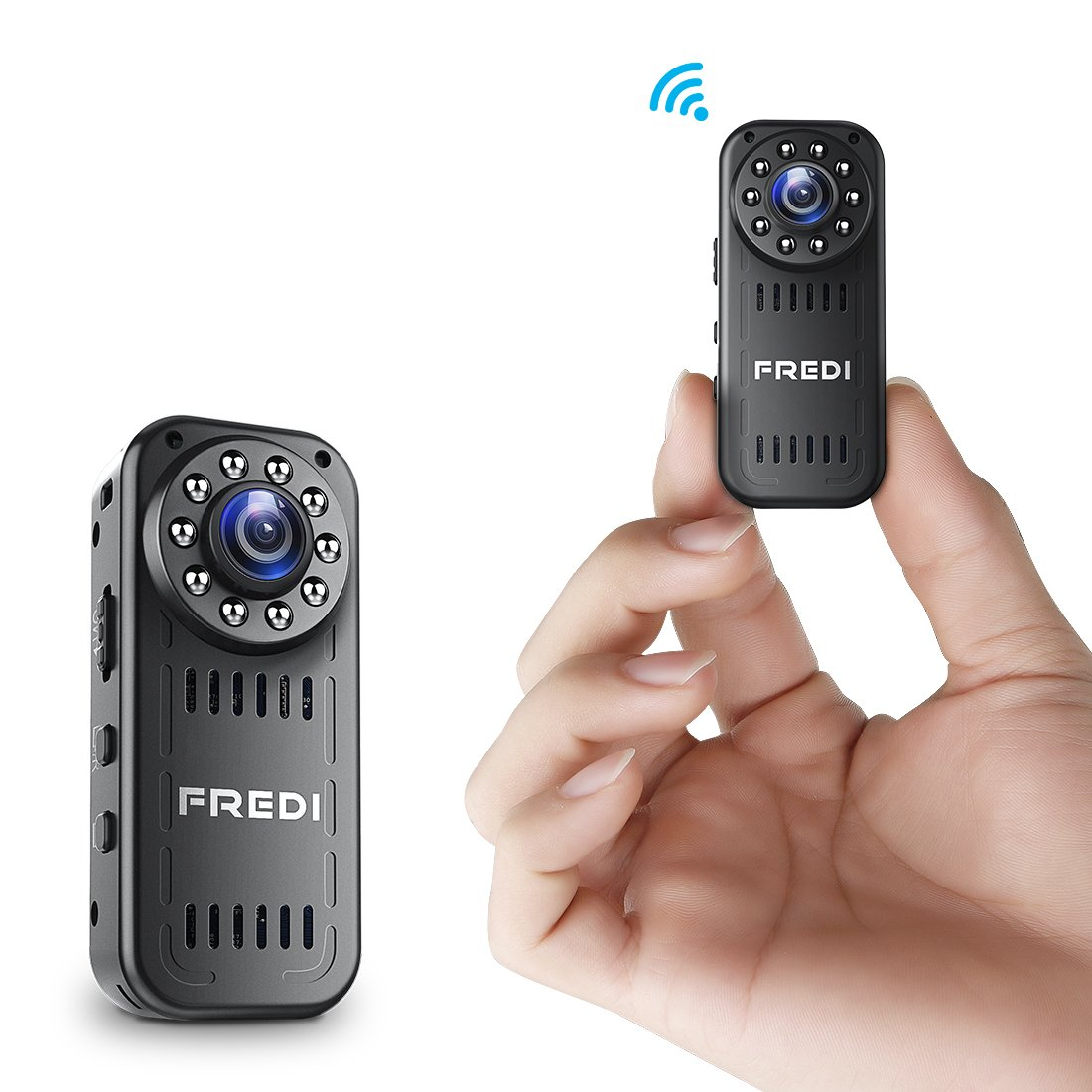 FREDI Hidden Camera 1080p HD Mini WiFi Camera spy Camera Wireless Camera for iPhone/Android Phone/iPad Remote View with Motion Detection(Update)