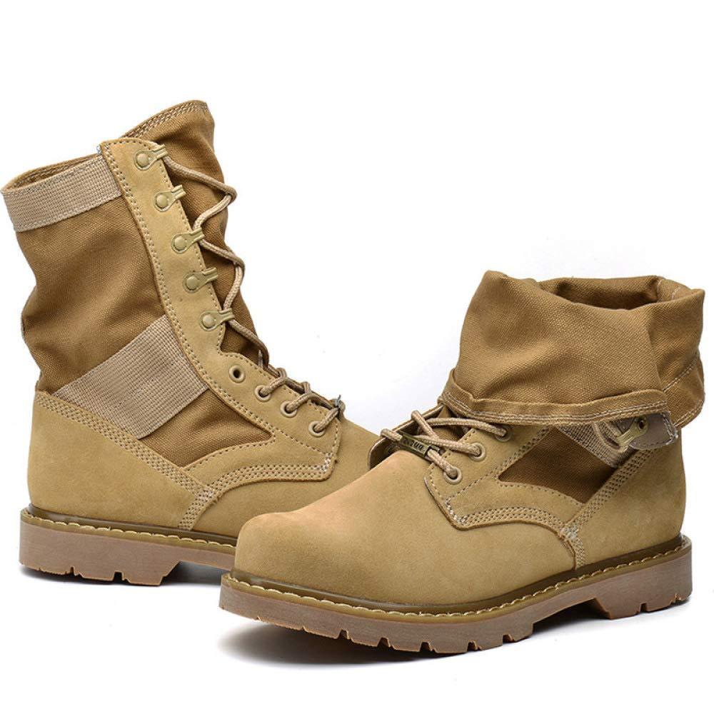 WANG-LONG Schuhe Herren Martin Stiefel Herbst Winter Outdoor Desert Wandern Wandern Wandern Leder Rutschfeste Atmungsaktive Mode,braun-44 1142a9