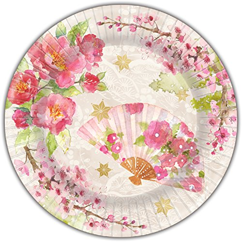Punch Studio 45963 Chinoiserie Garden, Dinner Plate, One Size, Pink