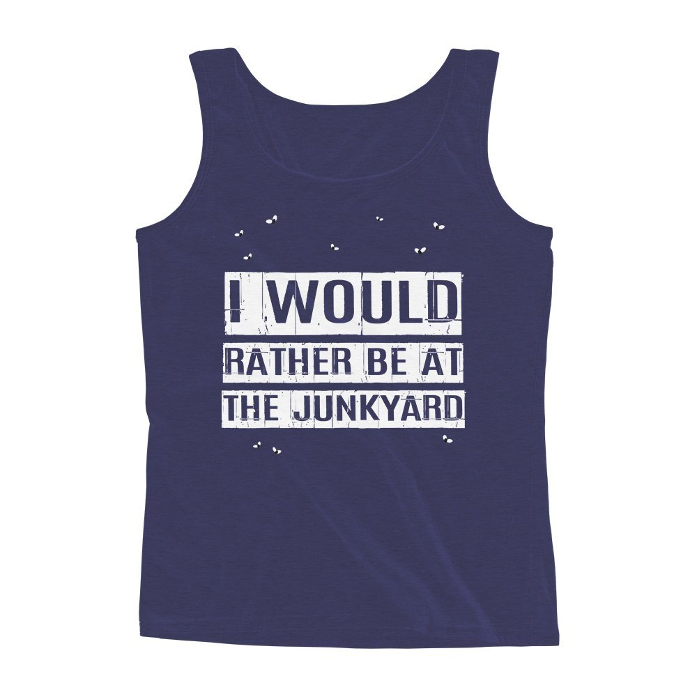 Mad Over Shirts I Would Rather be at The Junkyard Unisex Premium Tank top