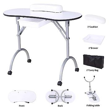 Amazon.com : SUNCOO Manicure Nail Table Station Portable Foldable ...